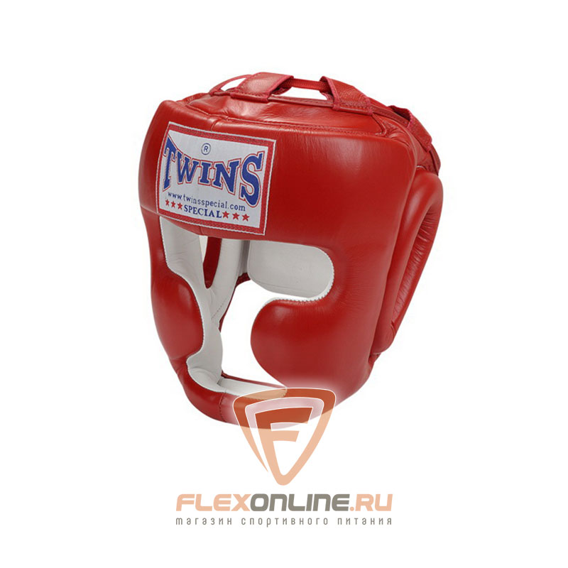 Шлемы Боксерский шлем тренировочный с креплением на липучке M красный от Twins