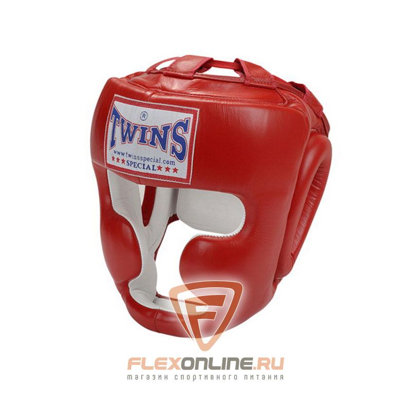 Шлемы Боксерский шлем тренировочный с креплением на липучке L красный от Twins