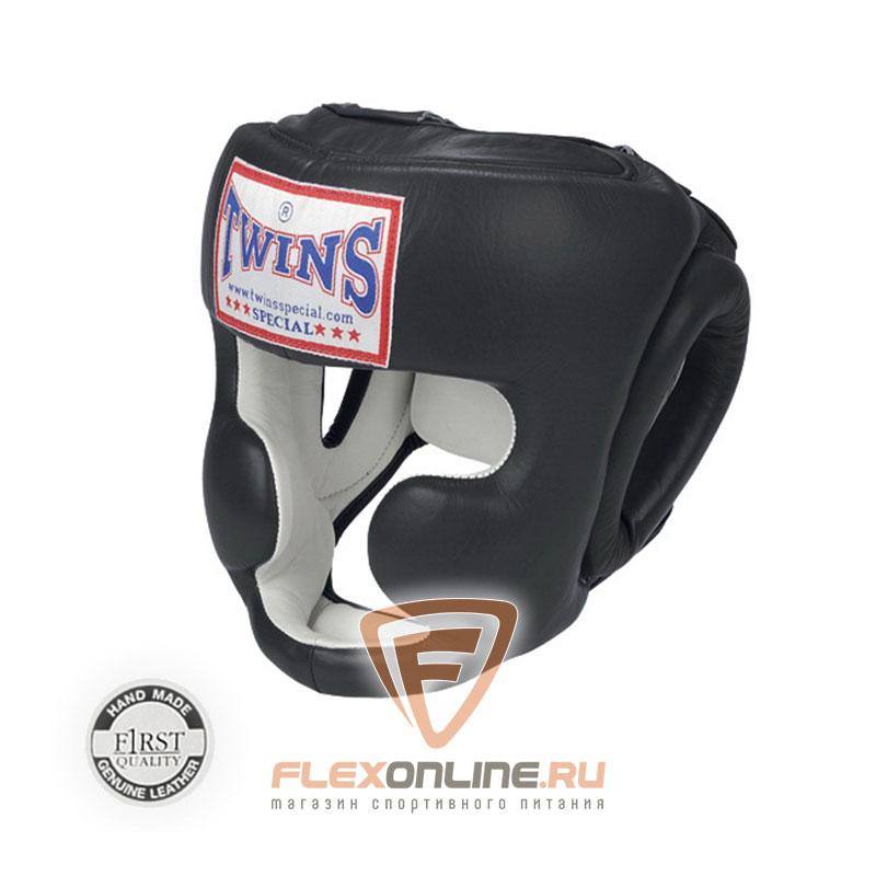 Шлемы Боксерский шлем тренировочный с креплением на резинке M чёрный от Twins