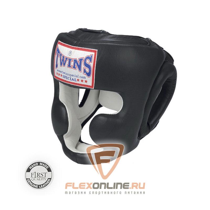 Шлемы Боксерский шлем тренировочный с креплением на резинке L чёрный от Twins