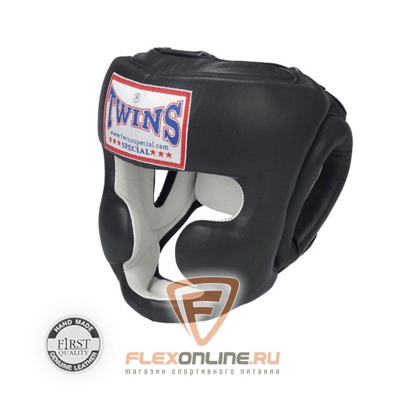 Шлемы Боксерский шлем тренировочный с креплением на резинке XL чёрный от Twins