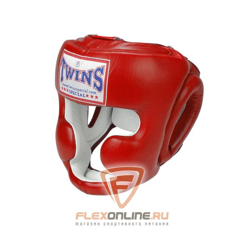 Шлемы Боксерский шлем тренировочный с креплением на шнурках M красный от Twins