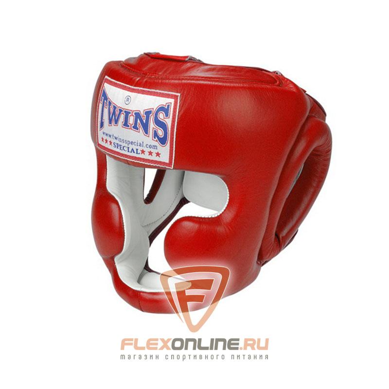 Шлемы Боксерский шлем тренировочный с креплением на шнурках L красный от Twins