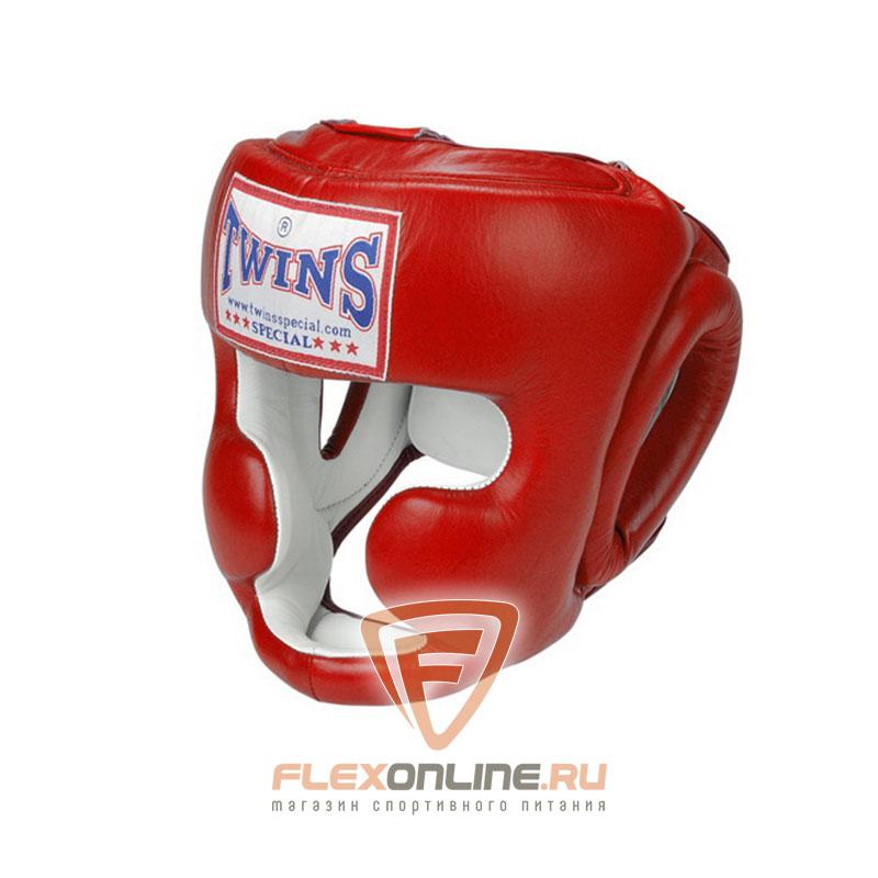 Шлемы Боксерский шлем тренировочный с креплением на шнурках XL красный от Twins