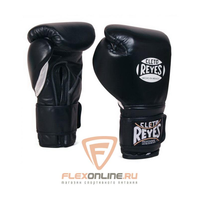 Боксерские перчатки Перчатки боксерские на липучке 8 унций чёрные от Cleto Reyes