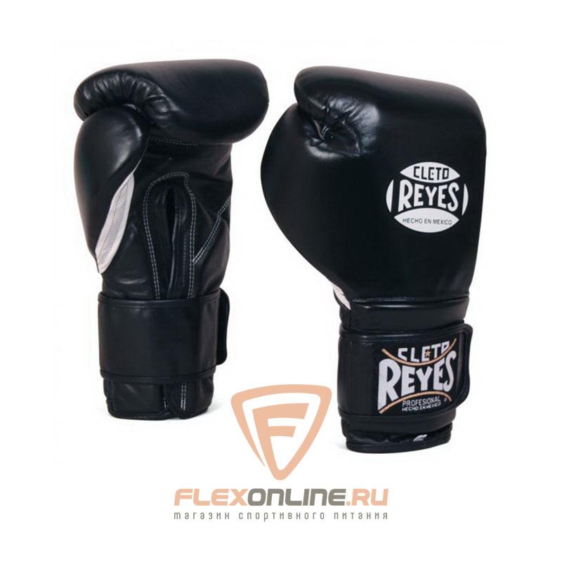 Боксерские перчатки Перчатки боксерские на липучке 10 унций чёрные от Cleto Reyes