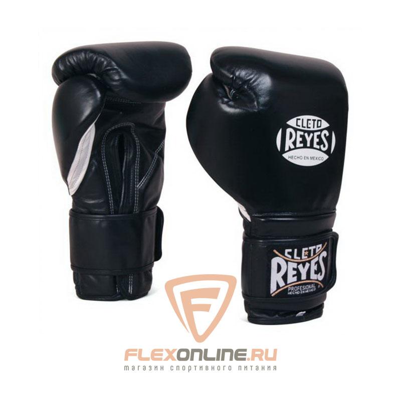Боксерские перчатки Перчатки боксерские на липучке 12 унций чёрные от Cleto Reyes
