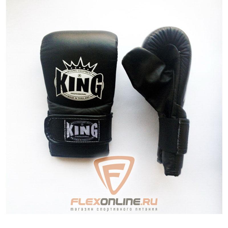 Cнарядные перчатки Перчатки снарядные на липучке S чёрные от King