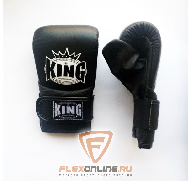Cнарядные перчатки Перчатки снарядные на липучке L чёрные от King