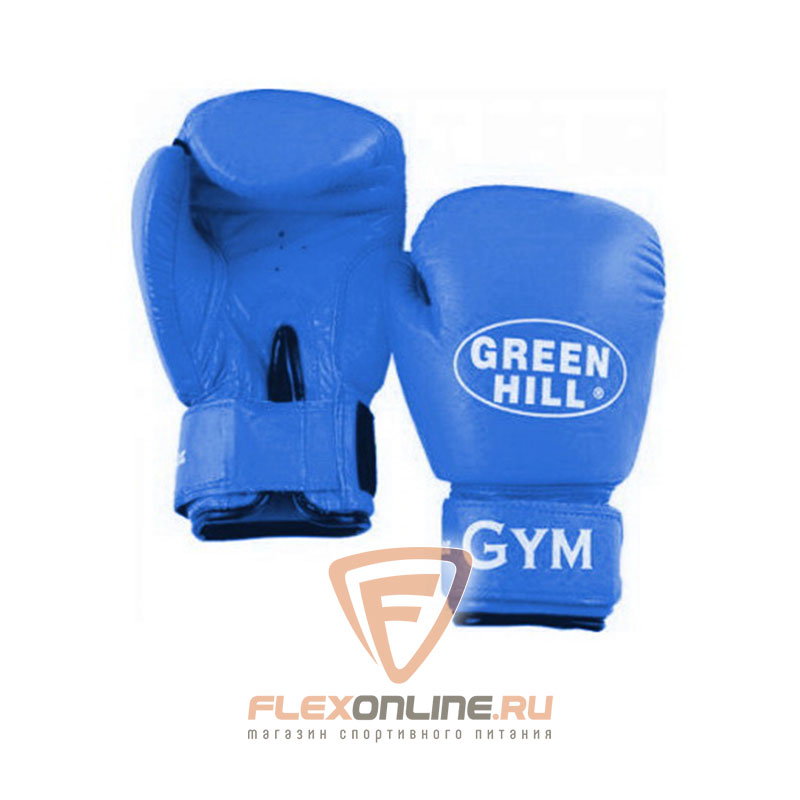 Боксерские перчатки Перчатки боксерские GYM 6 унций синие от Green Hill
