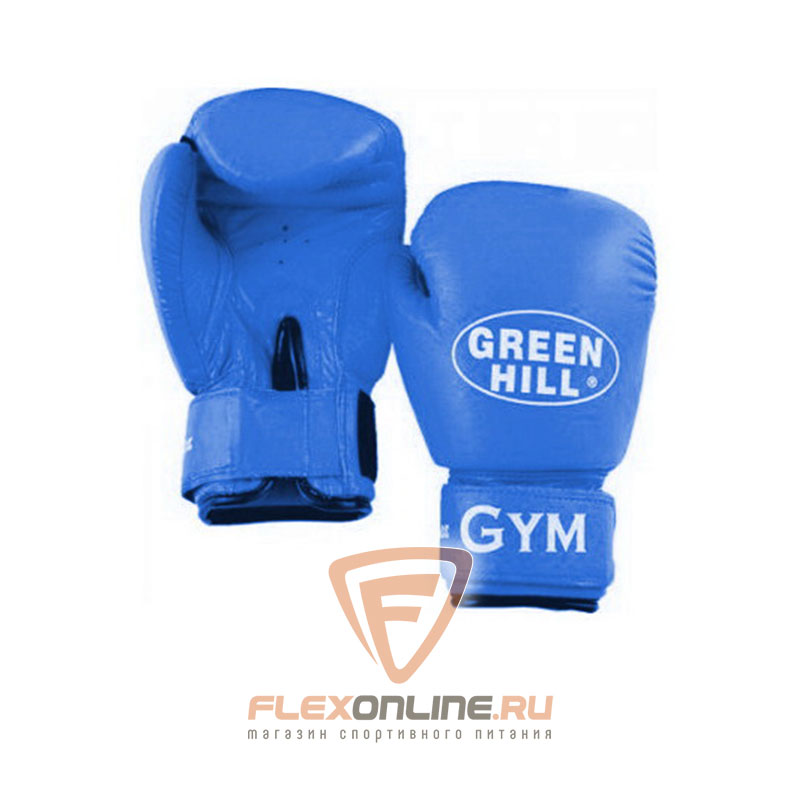 Боксерские перчатки Перчатки боксерские GYM 10 унций синие от Green Hill