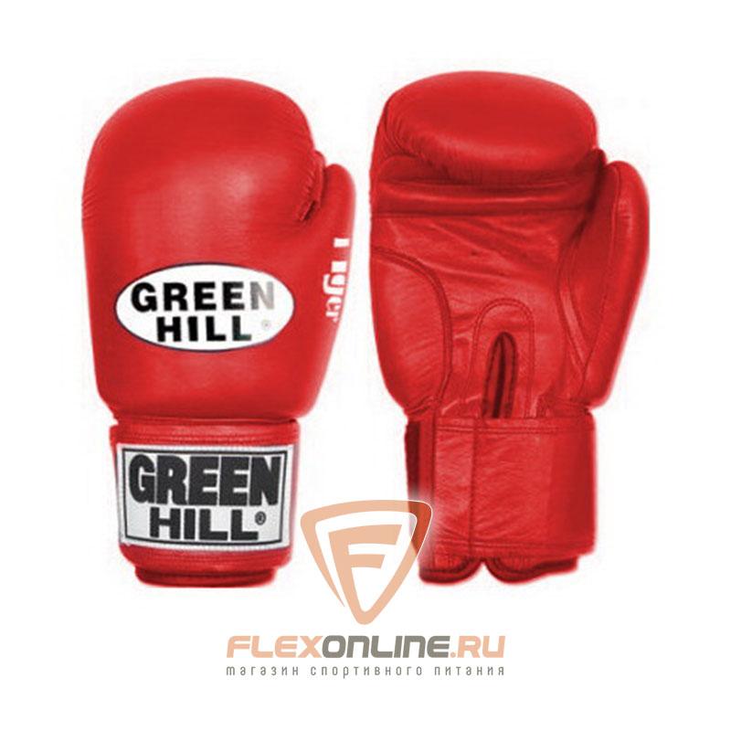 Боксерские перчатки Перчатки боксерские TIGER 12 унций красные от Green Hill