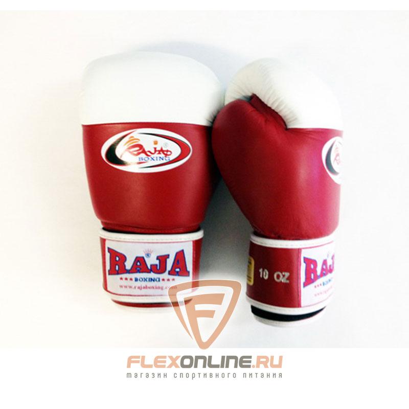 Боксерские перчатки Перчатки боксерские соревновательные на липучке 10 унций красно-белые от Raja