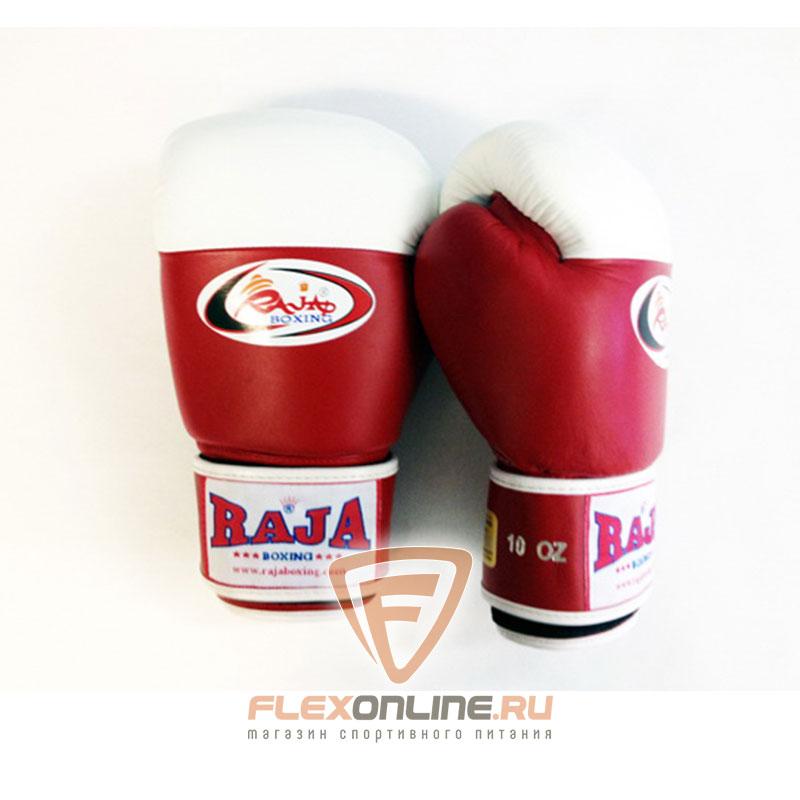 Боксерские перчатки Перчатки боксерские соревновательные на липучке 12 унций красно-белые от Raja