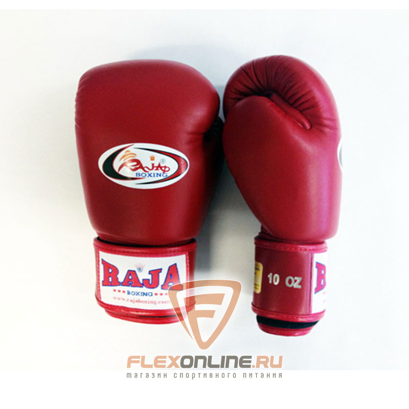 Боксерские перчатки Перчатки боксерские тренировочные на липучке 8 унций красные от Raja