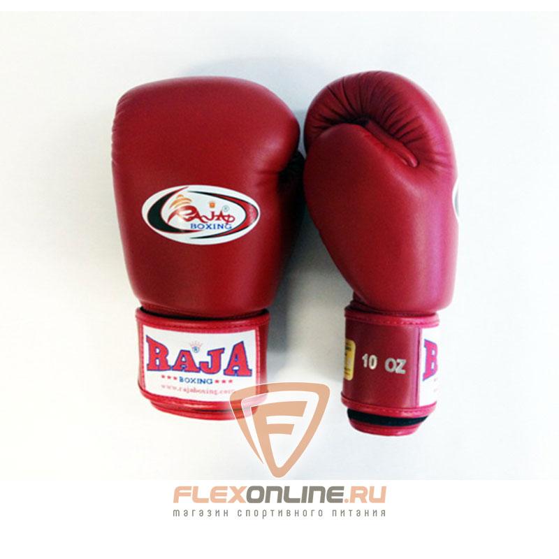 Боксерские перчатки Перчатки боксерские тренировочные на липучке 14 унций красные от Raja