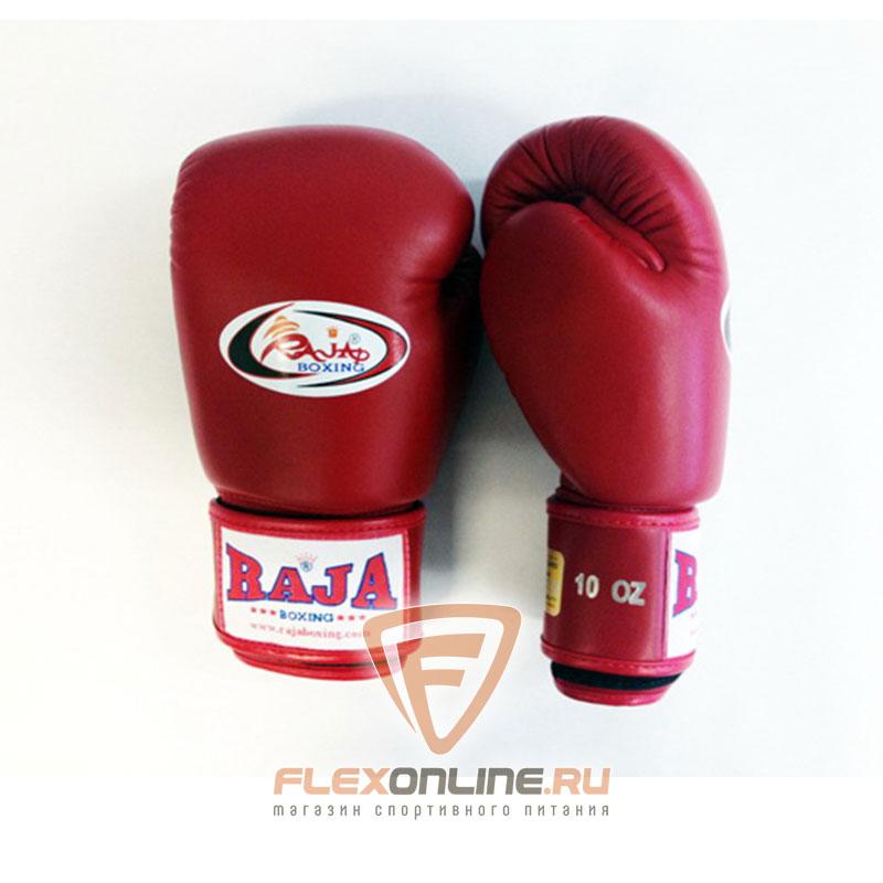 Боксерские перчатки Перчатки боксерские тренировочные на липучке 16 унций красные от Raja