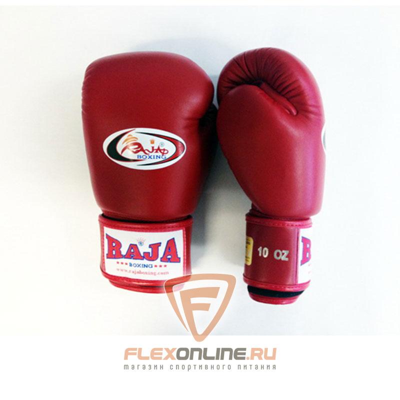 Боксерские перчатки Перчатки боксерские тренировочные на липучке 18 унций красные от Raja