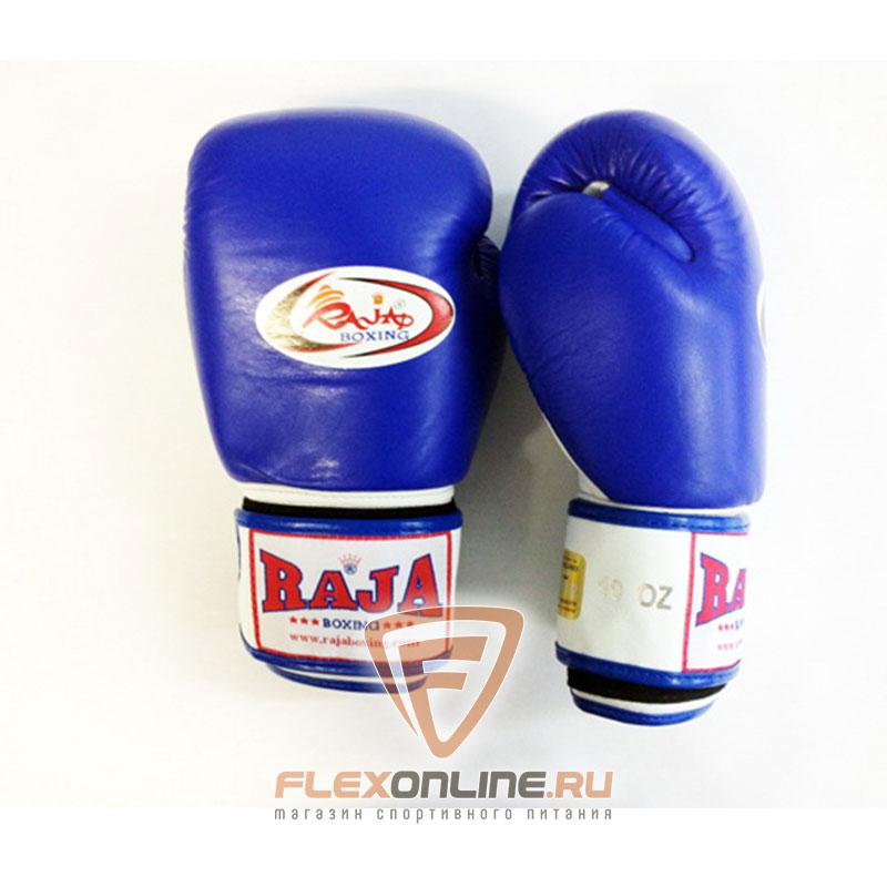 Боксерские перчатки Перчатки боксерские тренировочные на липучке 14 унций сине-белые от Raja