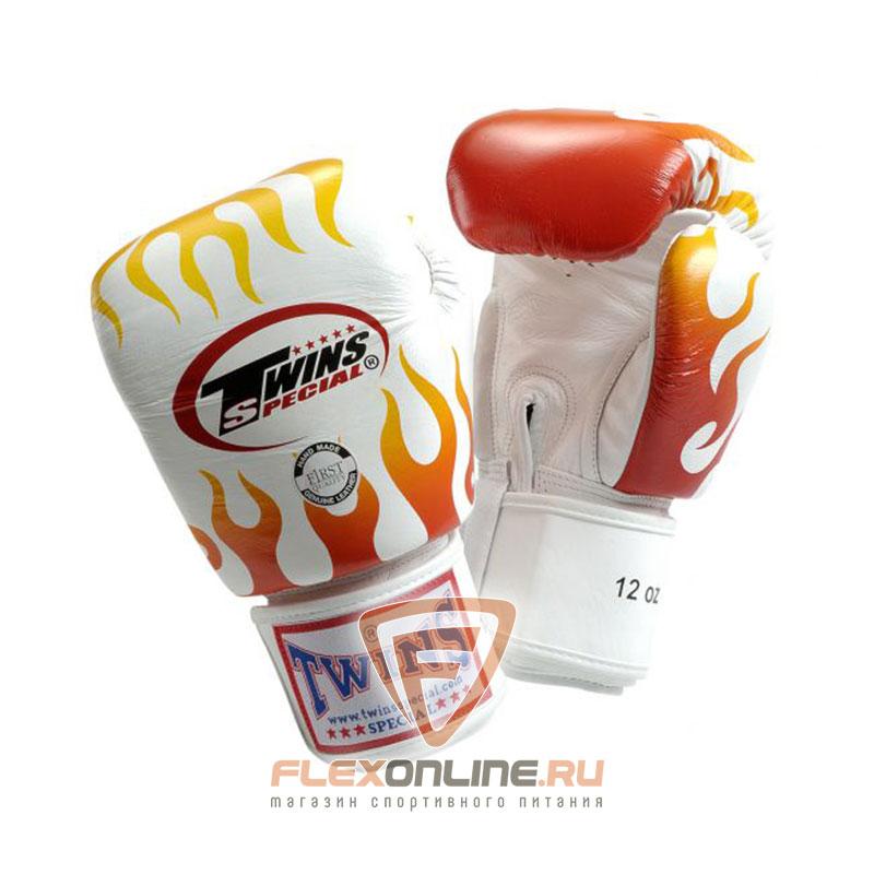 Боксерские перчатки Перчатки боксерские тренировочные на липучке 16 унций белые от Twins