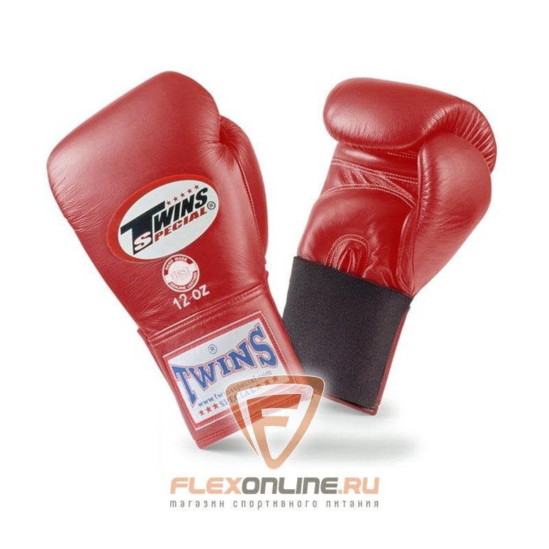 Боксерские перчатки Перчатки боксерские тренировочные на резинке 10 унций красные от Twins