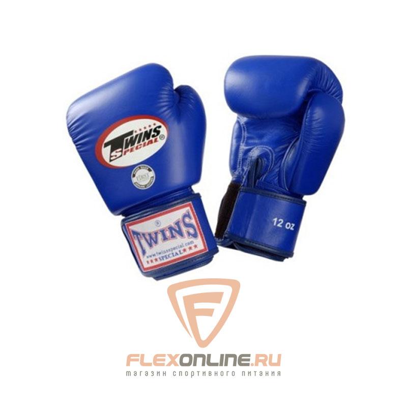 Боксерские перчатки Перчатки боксерские тренировочные 6 унций синие от Twins