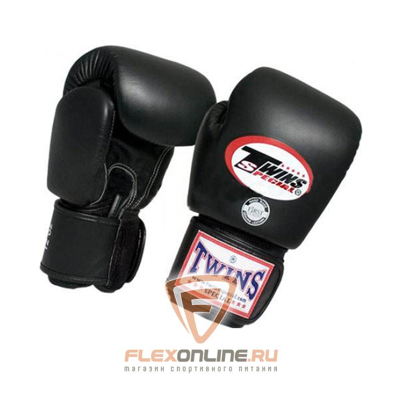 Боксерские перчатки Перчатки боксерские тренировочные 6 унций чёрные от Twins