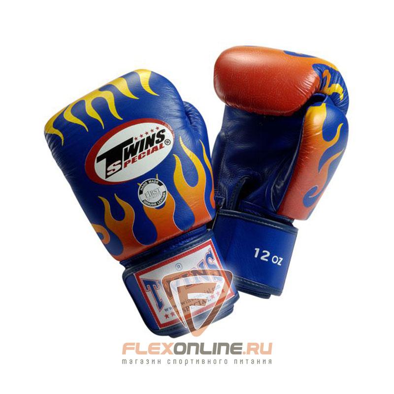 Боксерские перчатки Перчатки боксерские тренировочные на липучке 14 унций синие от Twins
