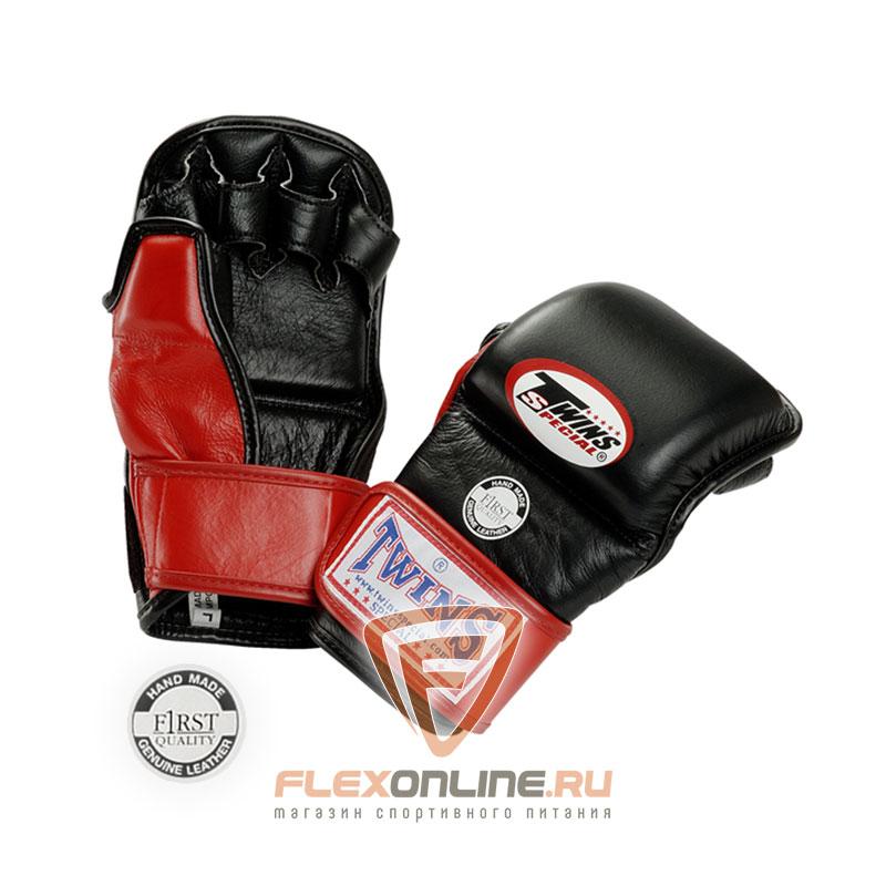 Перчатки MMA Перчатки ММА на липучке M красные от Twins