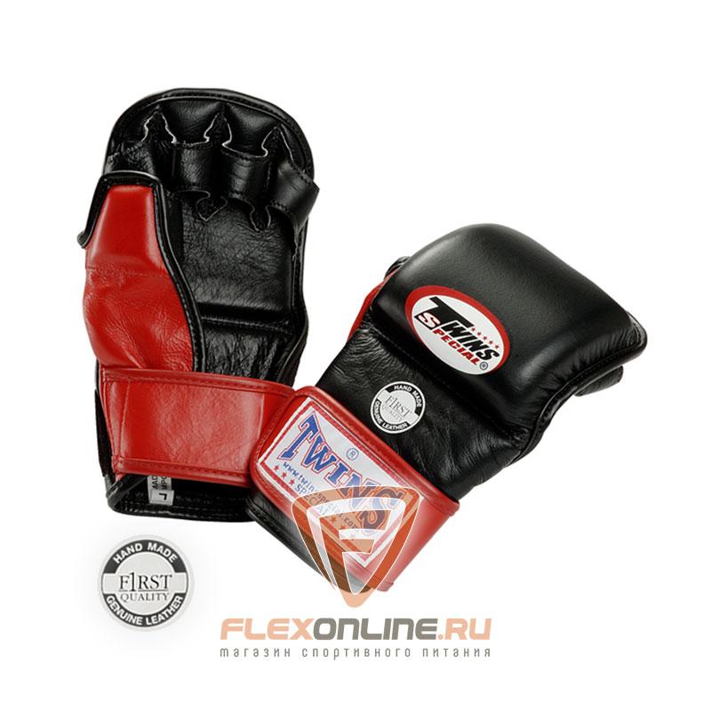 Перчатки MMA Перчатки ММА на липучке XL красные от Twins