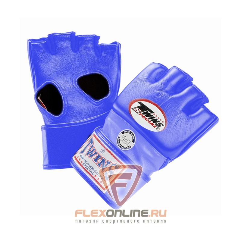 Перчатки MMA Перчатки ММА на липучке L синие от Twins