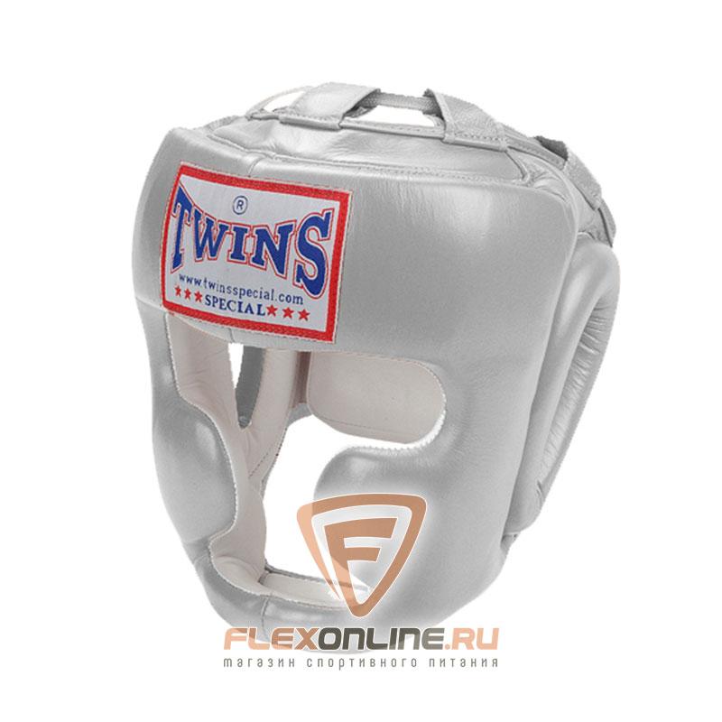 Шлемы Боксерский шлем тренировочный с креплением на липучке M серебряный от Twins