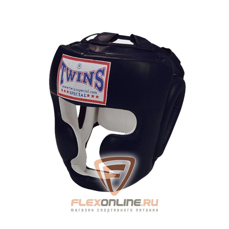 Шлемы Боксерский шлем тренировочный с креплением на шнурках XL чёрный от Twins