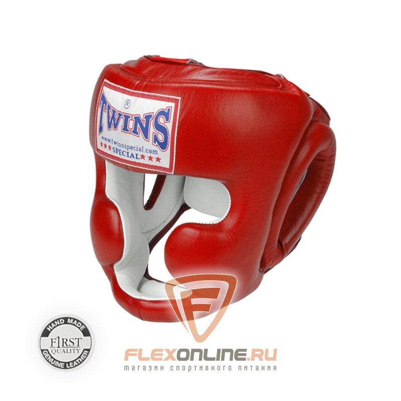 Шлемы Боксерский шлем тренировочный с креплением на резинке L красный от Twins