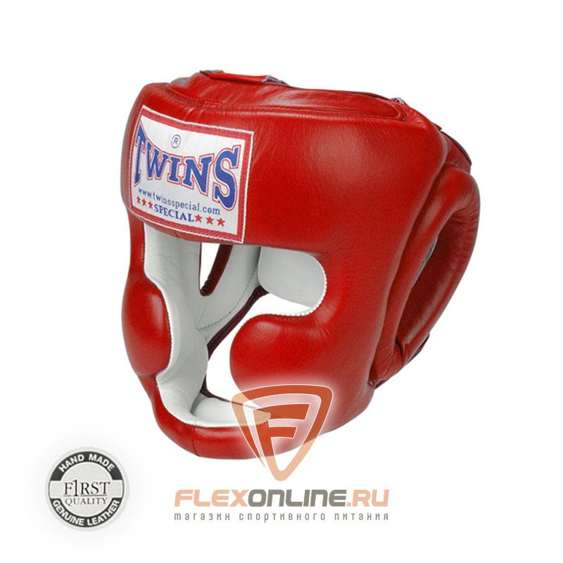 Шлемы Боксерский шлем тренировочный с креплением на резинке M красный от Twins