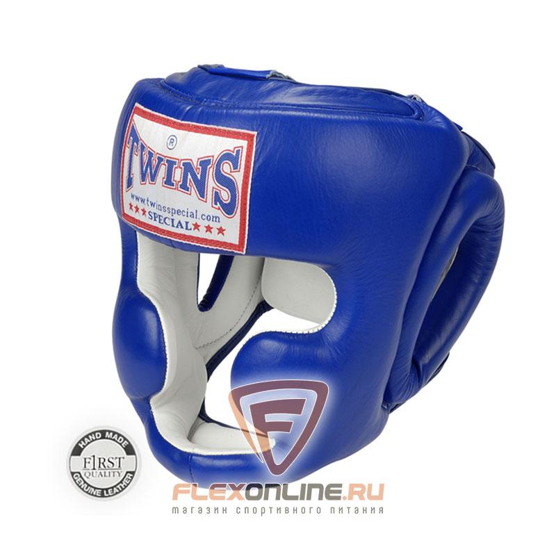 Шлемы Боксерский шлем тренировочный с креплением на резинке M синий от Twins
