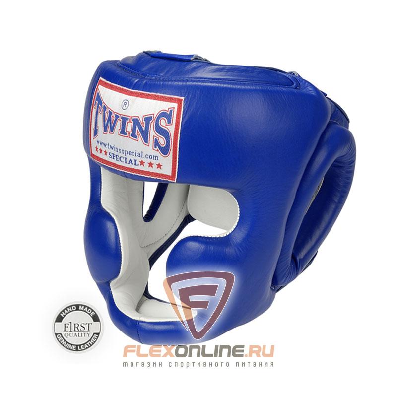 Шлемы Боксерский шлем тренировочный с креплением на резинке XL синий от Twins