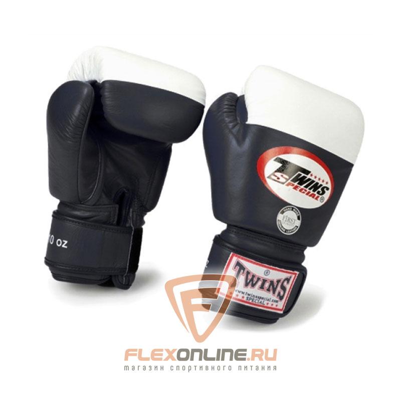 Боксерские перчатки Перчатки боксерские соревновательные 8 унций чёрные от Twins