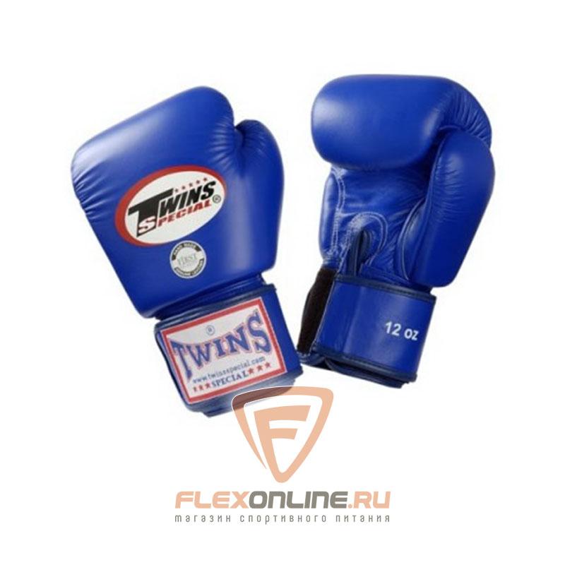 Боксерские перчатки Перчатки боксерские тренировочные 8 унций синие от Twins