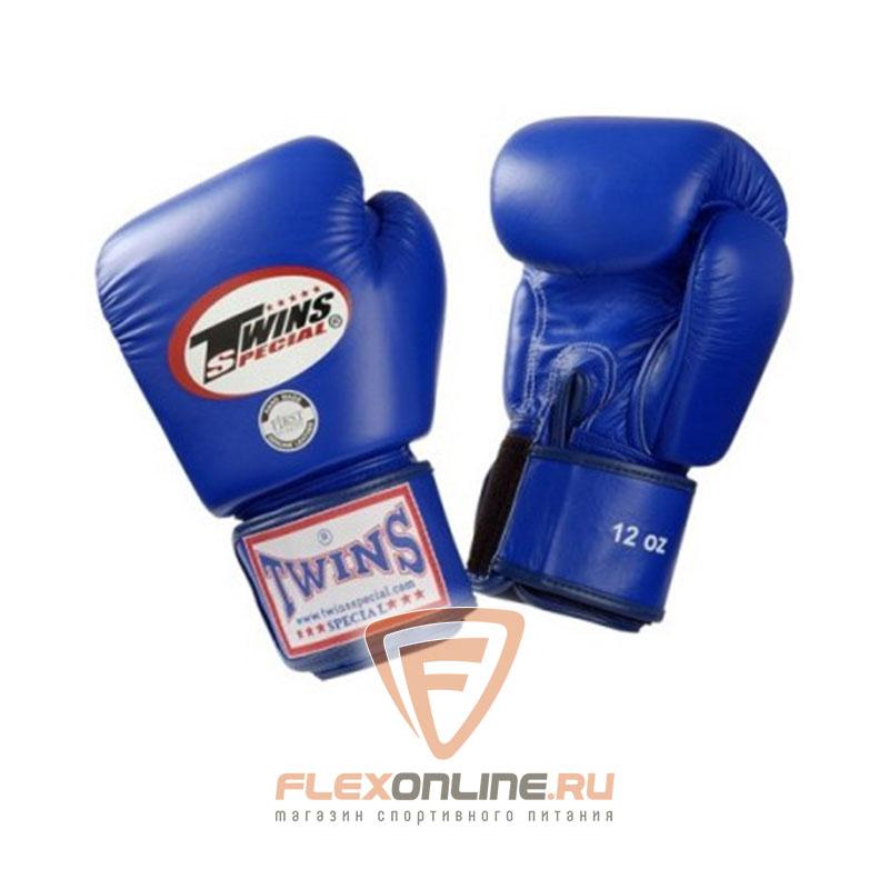 Боксерские перчатки Перчатки боксерские тренировочные 12 унций синие от Twins