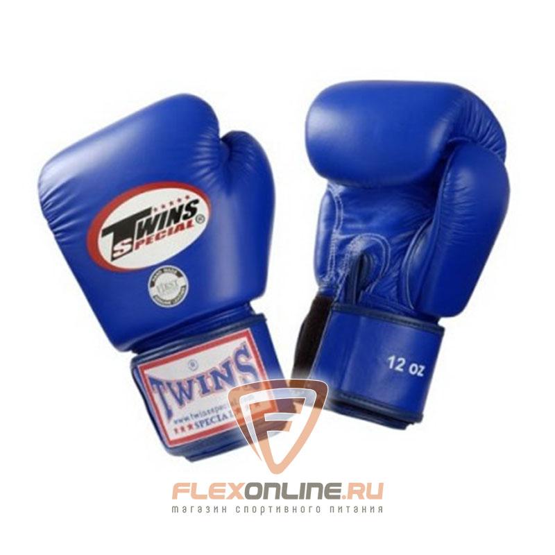 Боксерские перчатки Перчатки боксерские тренировочные 14 унций синие от Twins