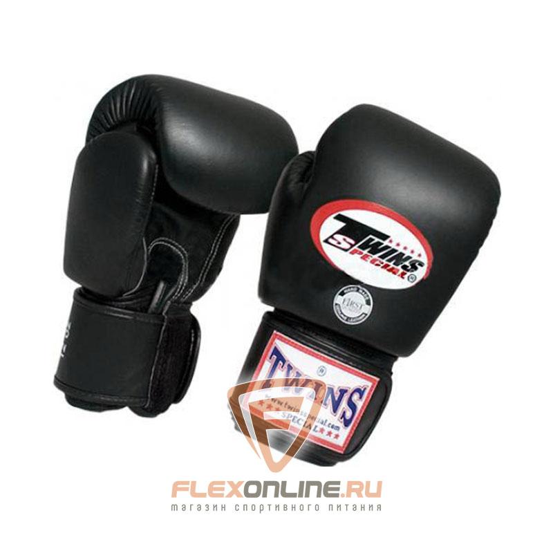 Боксерские перчатки Перчатки боксерские тренировочные 18 унций чёрные от Twins
