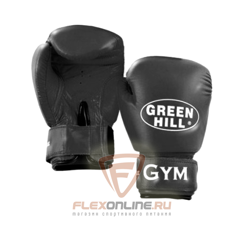 Боксерские перчатки Перчатки боксерские GYM 12 унций чёрные от Green Hill