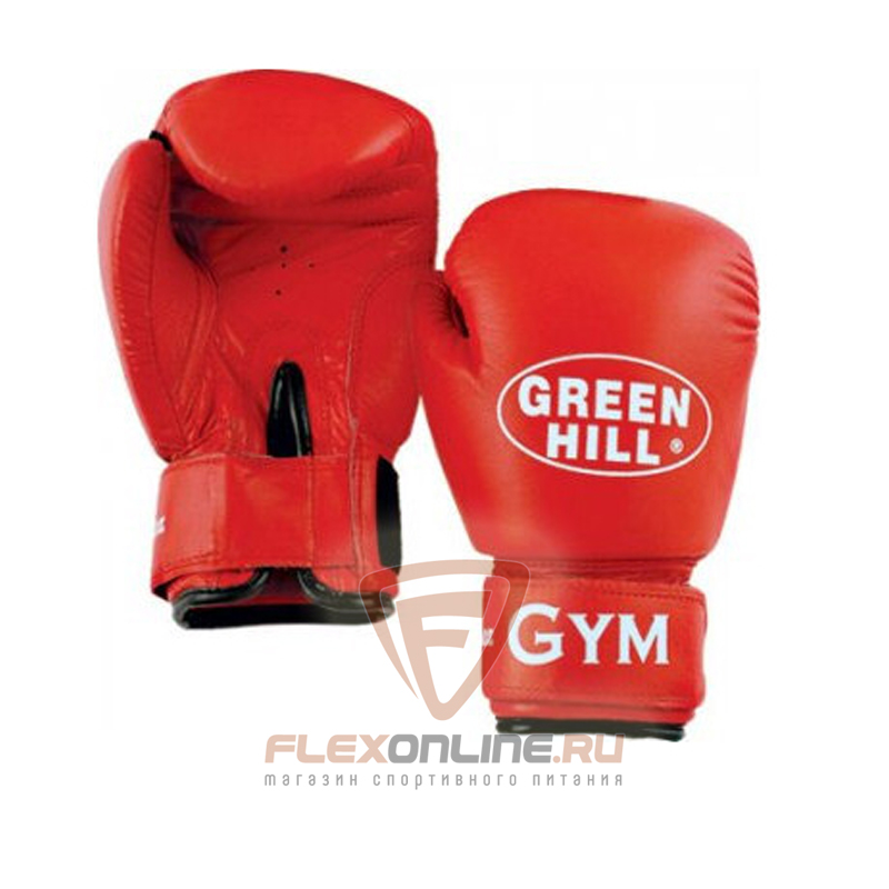 Боксерские перчатки Перчатки боксерские GYM 16 унций красные от Green Hill