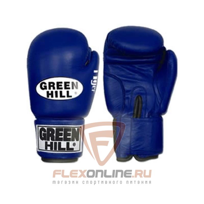 Боксерские перчатки Перчатки боксерские TIGER 12 унций синие от Green Hill