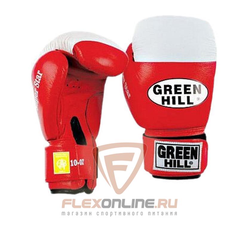Боксерские перчатки Перчатки боксерские SUPER STAR 12 унций красные от Green Hill