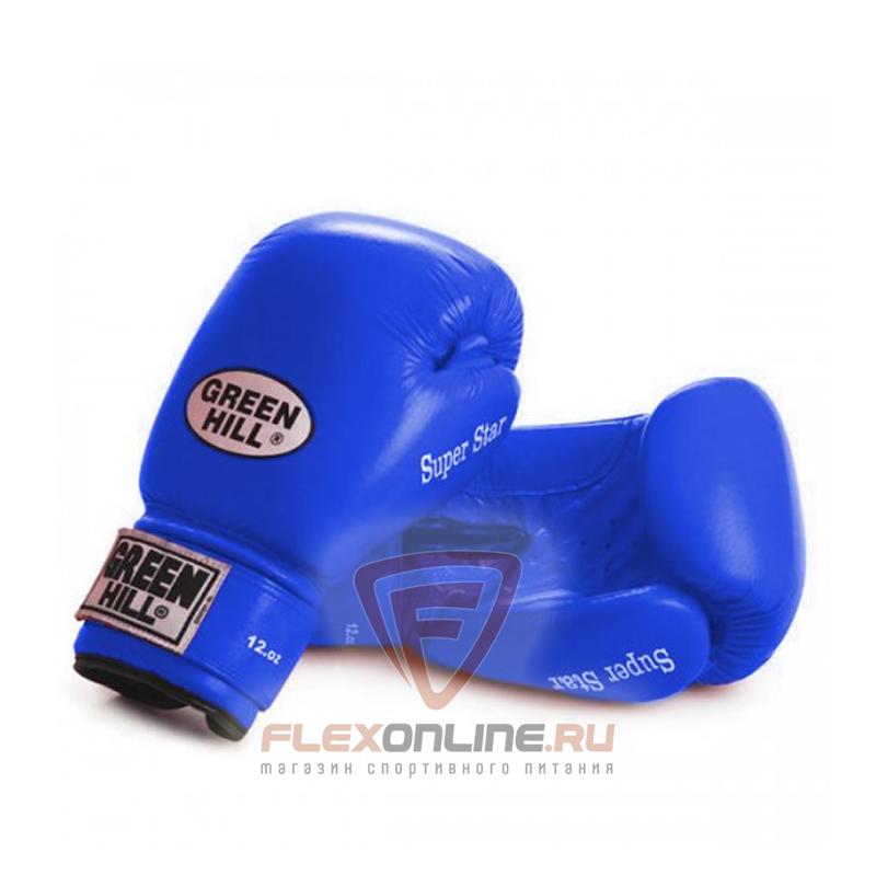 Боксерские перчатки Перчатки боксерские SUPER STAR 12 унций синие от Green Hill