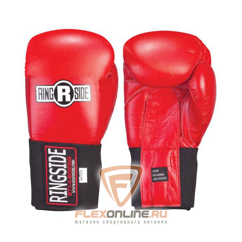 Боксерские перчатки Перчатки боксёрские соревновательные на липучке 12 унций красные от Ringside