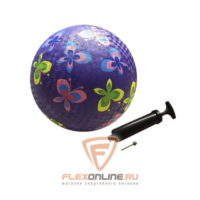 Медицинболы и мячи Мяч детский игровой с насосом фиолетовый от NC sports