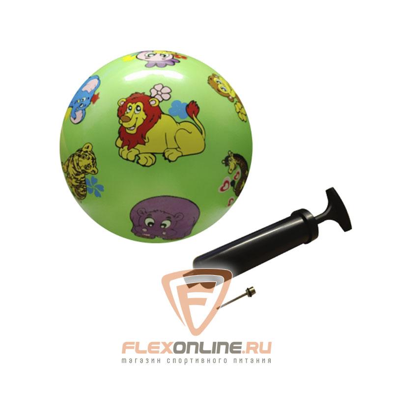 Медицинболы и мячи Мяч детский игровой с насосом зеленый от NC sports